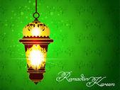 Green Ramadan Background — Stock Vector