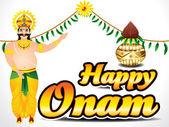 Happy Onam Background — Stock Vector