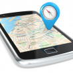 Smartphone GPS, Pointer. — Stock Photo
