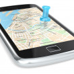 Navigation via Smart phone. — Stock Photo #15737619
