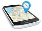Smartphone GPS, Pointer. — Stock Photo