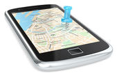 Navigation via Smart phone. — Stockfoto