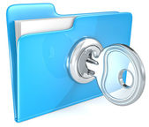 Secure file. — Stock Photo