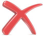 Znak czerwonego krzyża — Zdjęcie stockowe