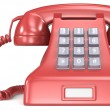 Red telephone. — Stock Photo