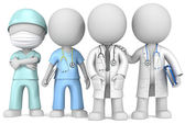Doctors and Nurse. — Stock Photo