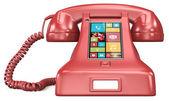 Post retro telephone. — Stock Photo