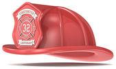 赤い消防士ヘルメット. — ストック写真