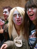 Zombie Nation (zombies take over Exeter) — Stock Photo