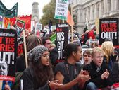 Get Up, Stand Up (march against austerity measures ,London). — Stock Photo