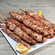 Pork skewers — Stock Photo