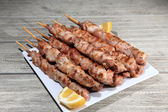 Pork skewers — Stock Photo