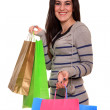 Happy girl with shopping bags - Foto de Stock