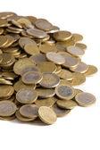 Gros plan du tas de pièces d'euros — Photo