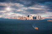 Aerial view of new york city — Stock Photo