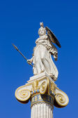 Ancient greek statue on a column — Stock Photo