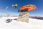 Ski lift on ski resort — Stock Photo