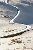 Road with snow  — Stok fotoğraf