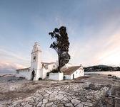 Small greek church — Stock Photo