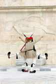 Presidential guards in Athens — Stock Photo
