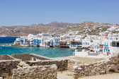 Little Venice in Mykonos — Stock Photo