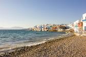 Mała Wenecja w Mykonos, Grecja — Zdjęcie stockowe