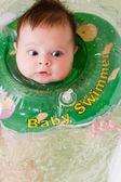 Bathing baby — Stock Photo