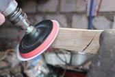 Wood grinding machine — Stock Photo