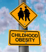 L'obesità infantile — Foto Stock
