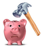Breaking The Bank — Stock Photo