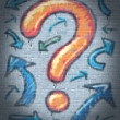 Graffiti Question Mark - Stock Photo