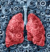 人类的肺功能 — 图库照片