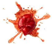 Tomate éclaboussé — Photo