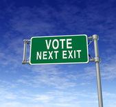 Signo de carretera de voto — Foto de Stock