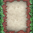 Stock Photo: Rustic Broken Brick Frame