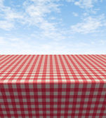 Checkered Tablecloth-table — Foto Stock