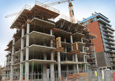 Chantier de construction de tours d'habitation — Photo