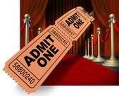 Movie Night Red Carpet — Stock Photo