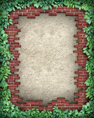 Rustic Broken Brick Frame — Stock Photo