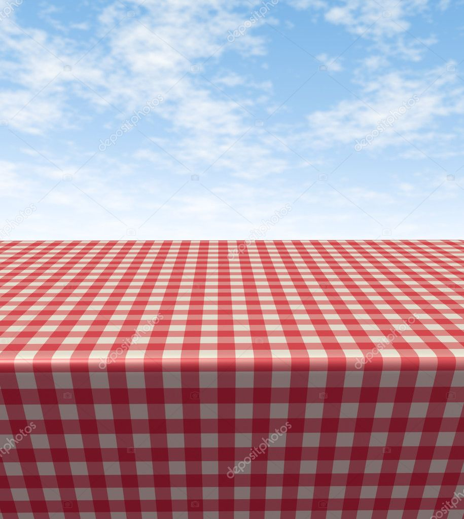 Checkered Tablecloth Table Stock Photo 169 Lightsource