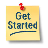 Get Started Office Note — Stock Photo