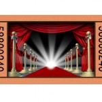 Cinema Ticket — Stock Photo