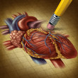 Losing Human Heart Health - Stock Photo