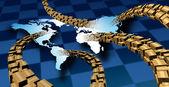 Międzynarodowym dostarczaniu przesyłek — Zdjęcie stockowe