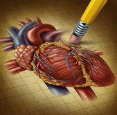 Utraty zdrowia ludzkiego serca — Zdjęcie stockowe