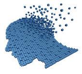 Utrata pamięci ludzkiej — Zdjęcie stockowe