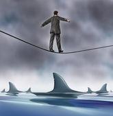 勇気とリスク — ストック写真
