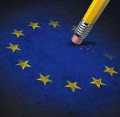 Problemas da união europeia — Foto Stock
