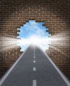 Break Through To Opportunity — Stock Photo