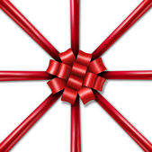 Star Burst Holiday Ribbon — Stock Photo